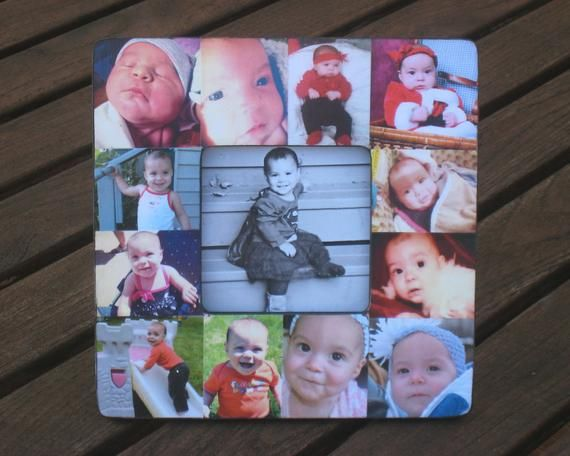 Personalized Baby S First Year Frame Baby Picture Frame Photo Collage Frame Unique Mother S Day G Baby Picture Frames Framed Photo Collage Photo Dad
