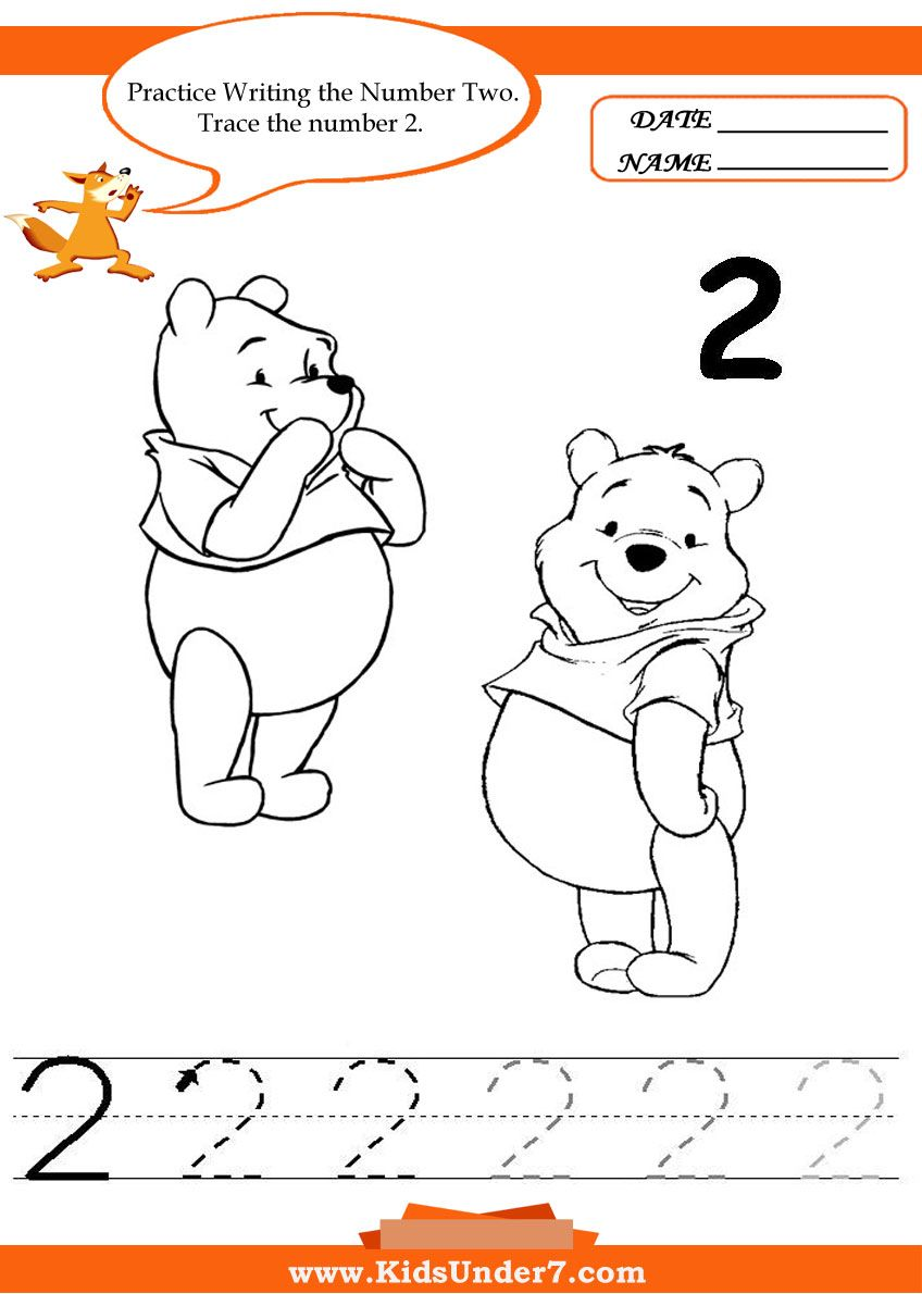 Worksheets Number 2 Worksheet For Kindergarten kids under 7 writing numbers worksheets pinterest worksheets
