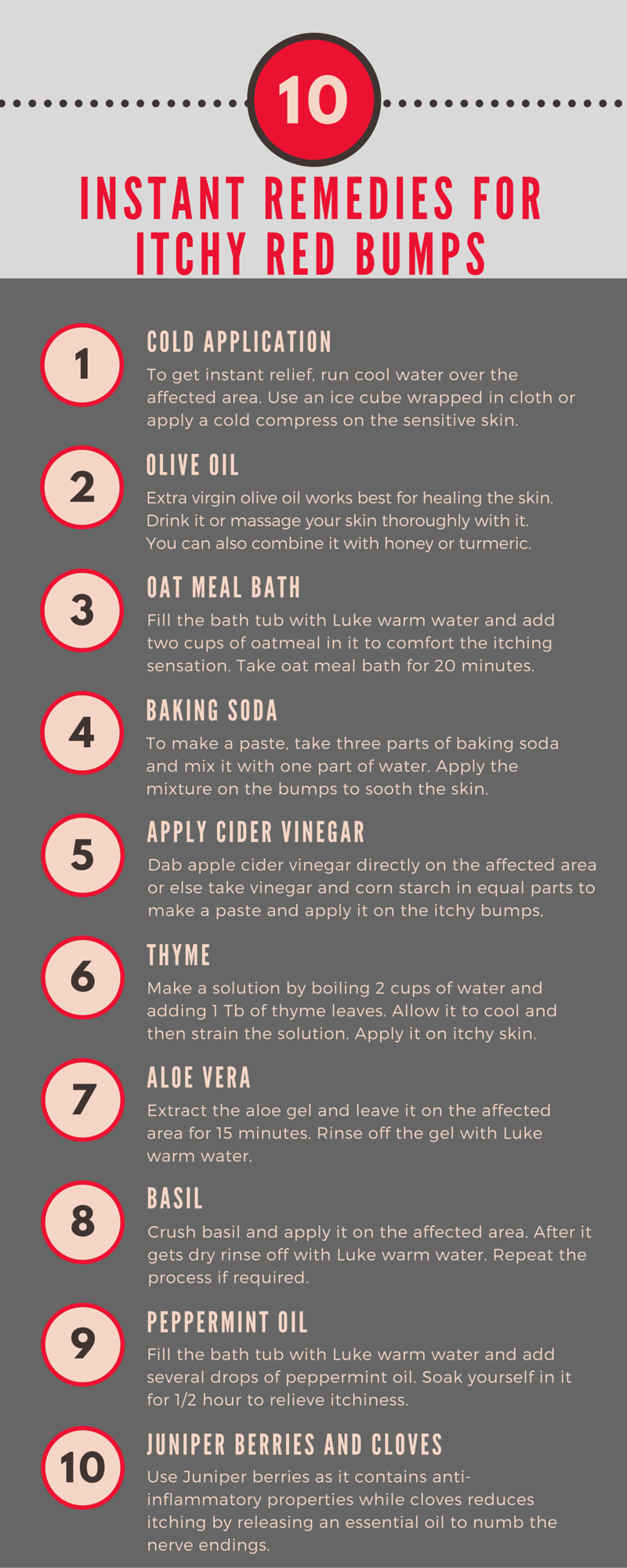 Infographic Top 10 Ways To Treat Red Itchy Bumps In 30 Minutes Or Less 7 Works Great Care Calm Skin Bumps Itchy Bumps Itchy Red Bumps
