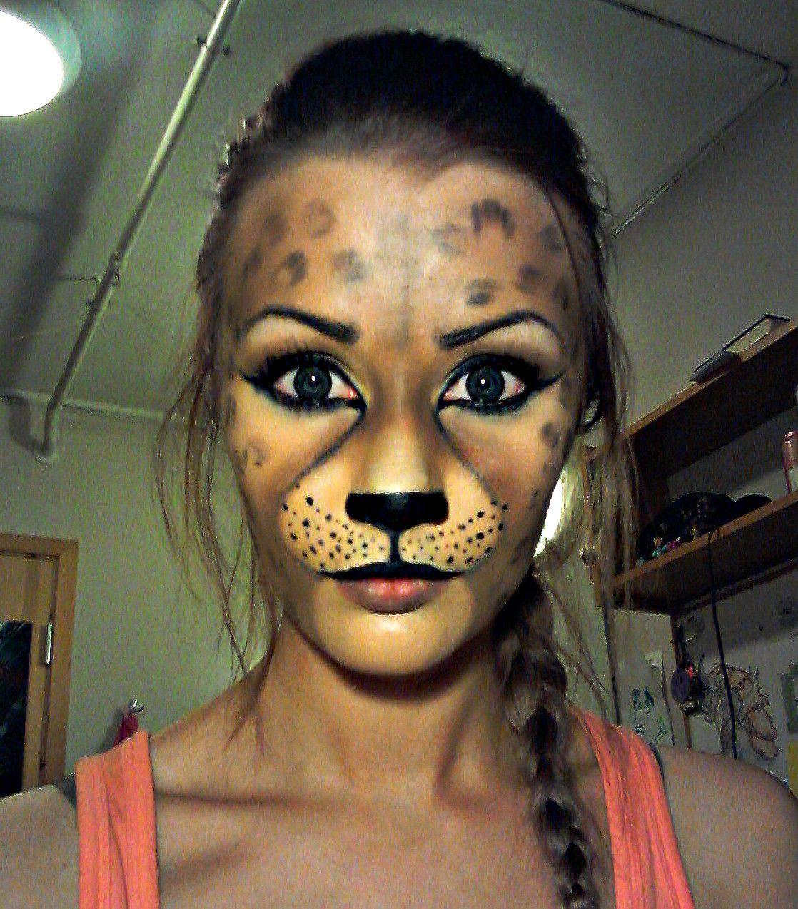Another go at leopard/cheetah makeup   Cheetah makeup, Cheetahs ...