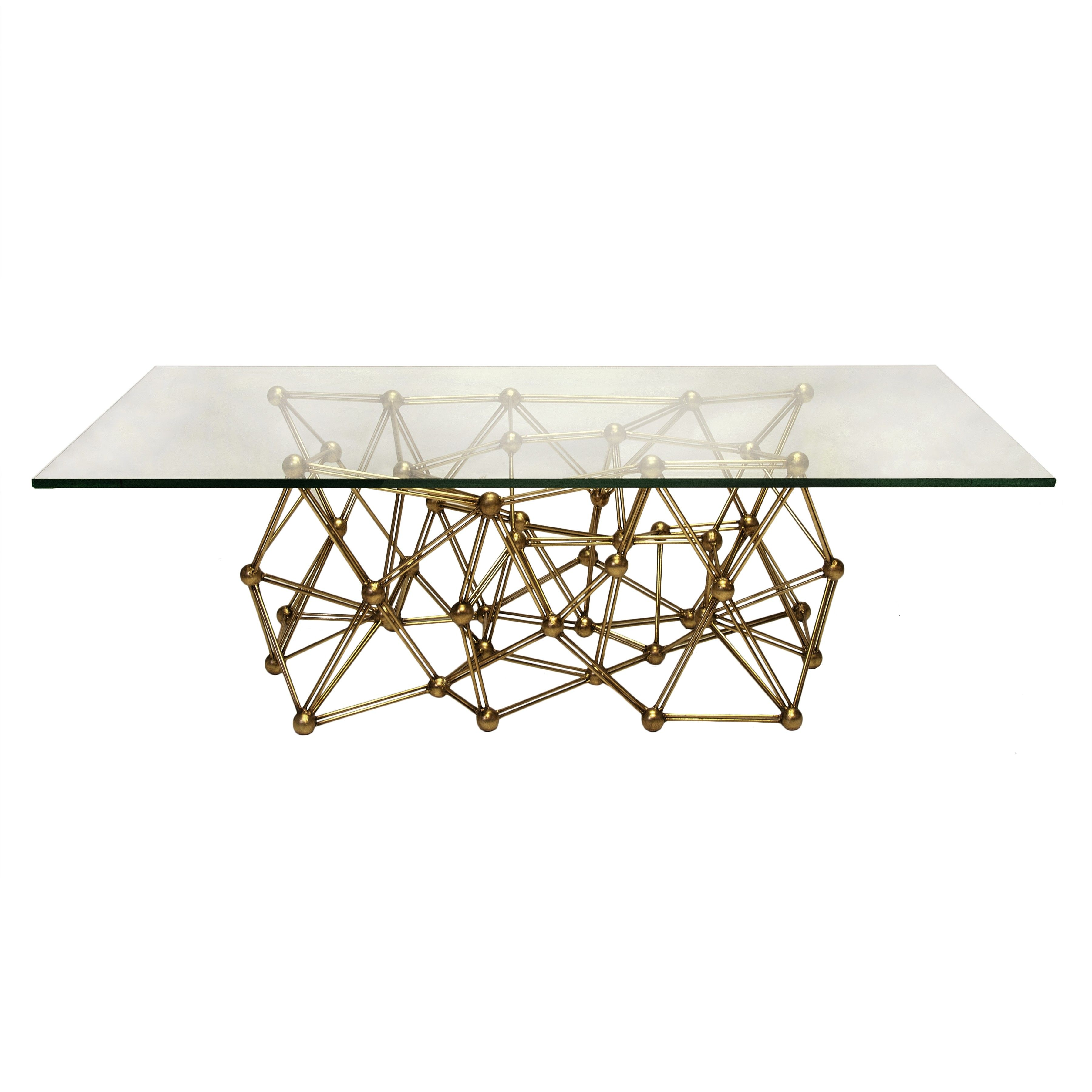 Molecule Cfg Gold Leaf Iron Coffee Table Base Only Pictured