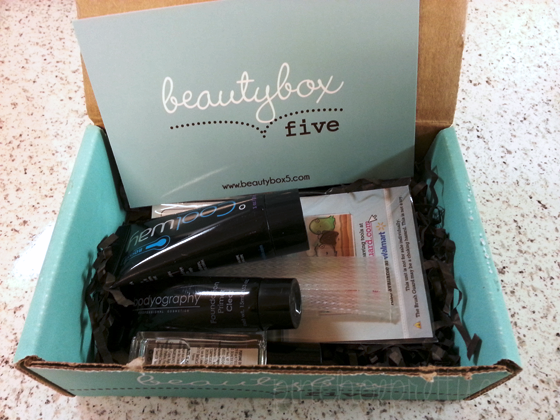 Beauty Box Five 5 beauty samples, 12 dollars a month