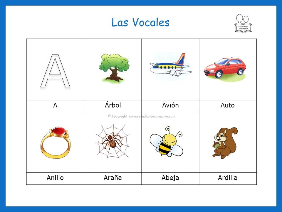 Palabras Que Inician Con La Vocal A Vocales Para Ninos Actividades De Aprendizaje Del Nino Las Vocales Preescolar