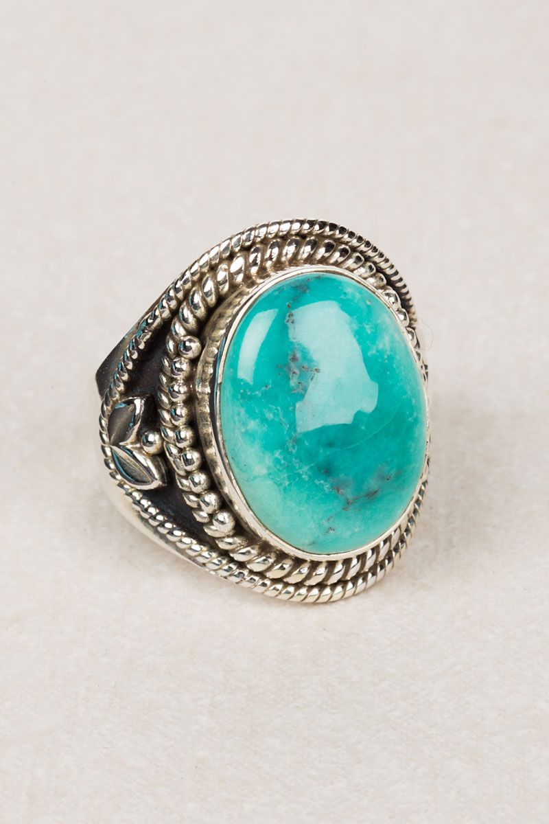 Oval Stone Tribal Ring