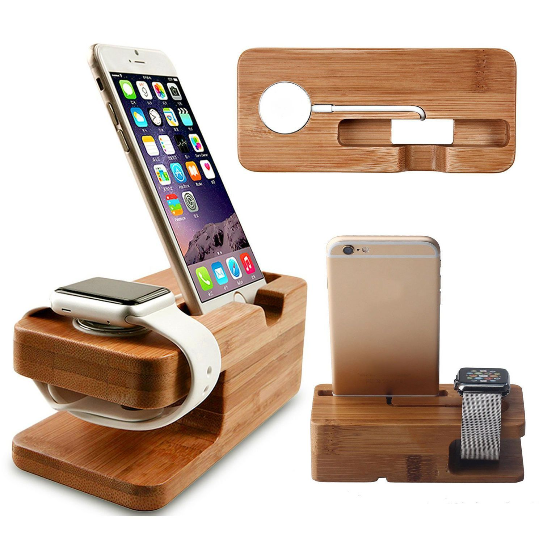 Apple watch iphone wood charging dock apple watch