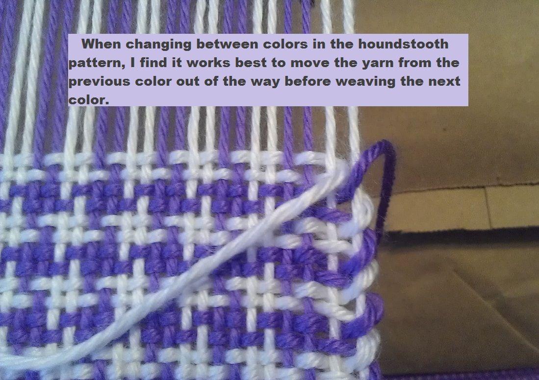 How to Weave the Houndstooth Pattern | Weben, Bandweberei und Handwerk