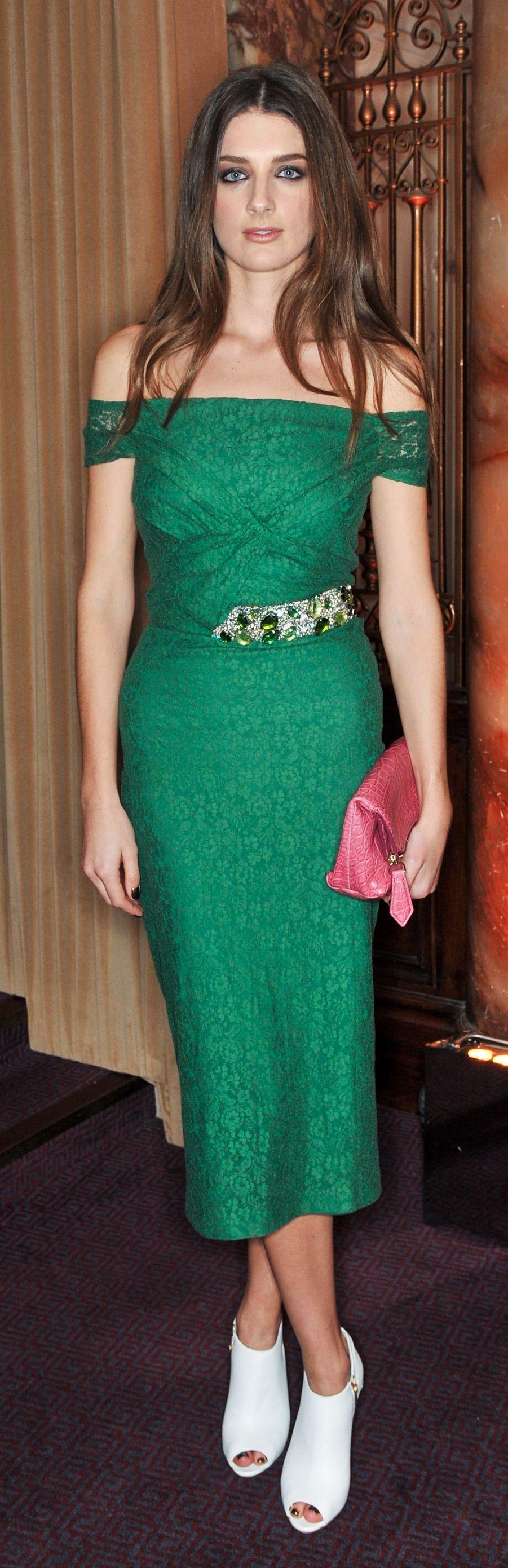 British actress Daisy Bevan wearing a Burberry Prorsum S/S14 Pre ...