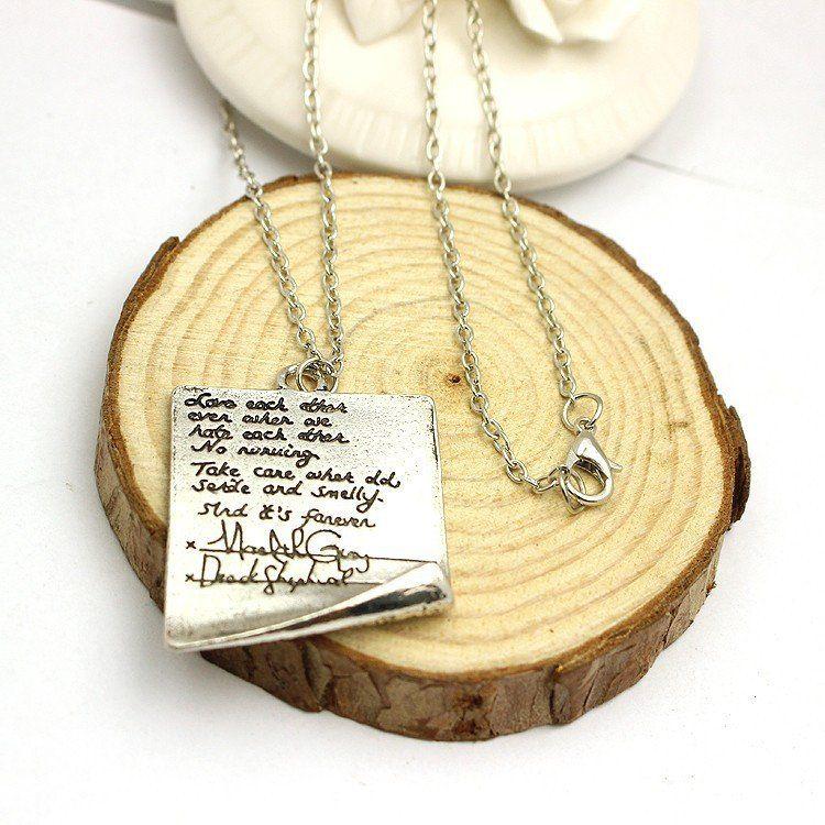 Grey's Anatomy Derek Meredith's Post-it Note Necklace
