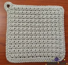Learn to Crochet Lesson Six: How to Read a Crochet Pattern with the Essential Crochet Potholder #crochetpotholderpatterns