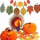 Jovitec 114 Pieces Thanksgiving Decoration Set 1 Piece Paper Turkey 2 Pieces #Ho…