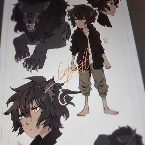 Cool Wolf Kody Drawing Character Art
