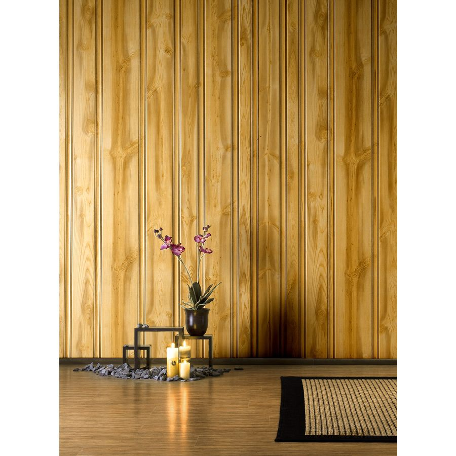 Shop FashionWall Hdbrd Pine Canyon 3/16-Inx4-Ftx8-Ft 47.75-in x ...