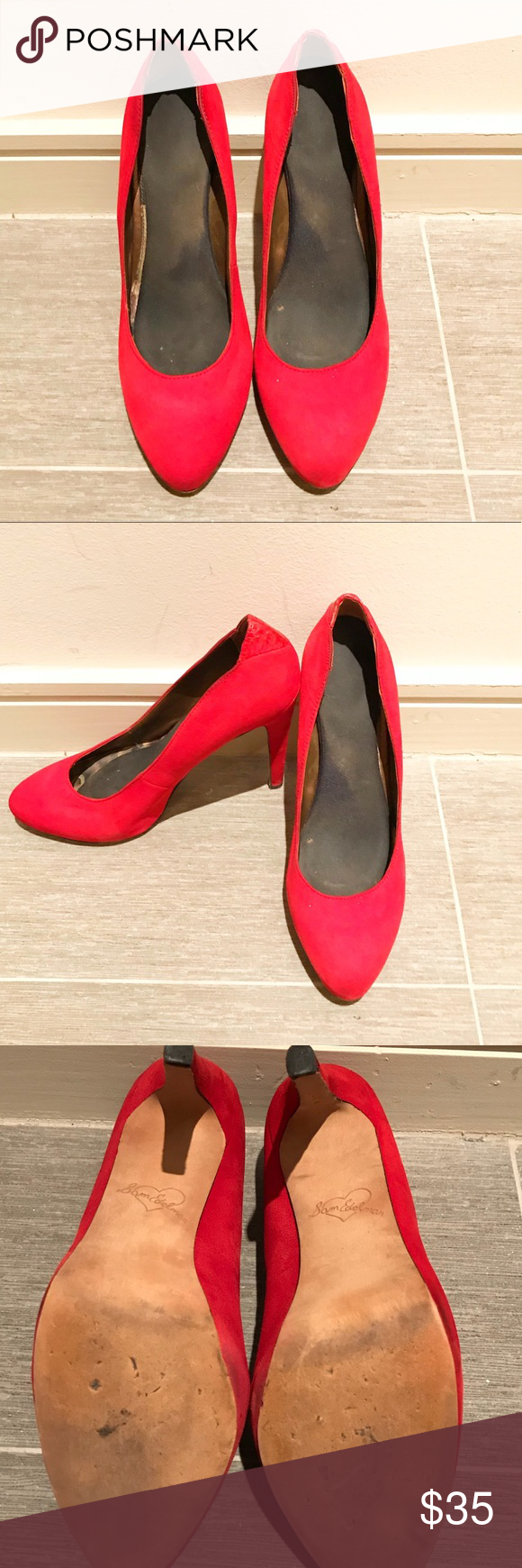 76d23c2d714aad Sam Edelman Celia   Dea Red Suede Pumps SAM EDELMAN Red Suede   Leather  Celia classic