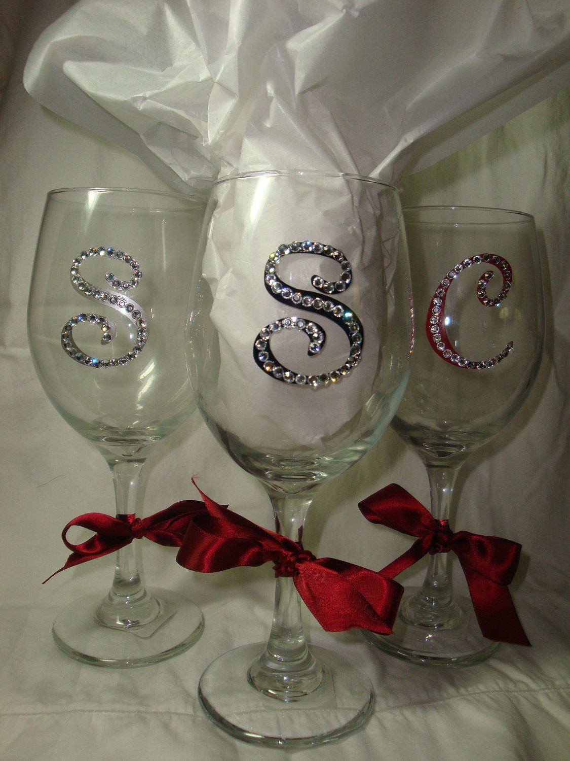 4 x Name /& Initial Vinyl Stickers for Glitter wine Glass Flute or Mason jars.