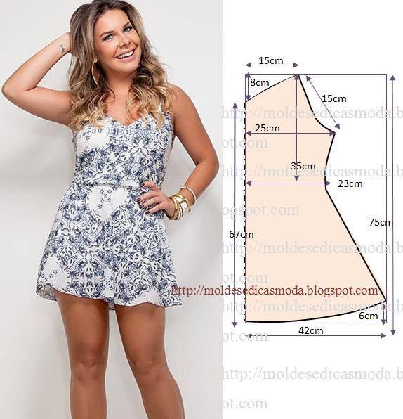 35 modelos y patrones de vestidos para dama   Ideas para ropa ...