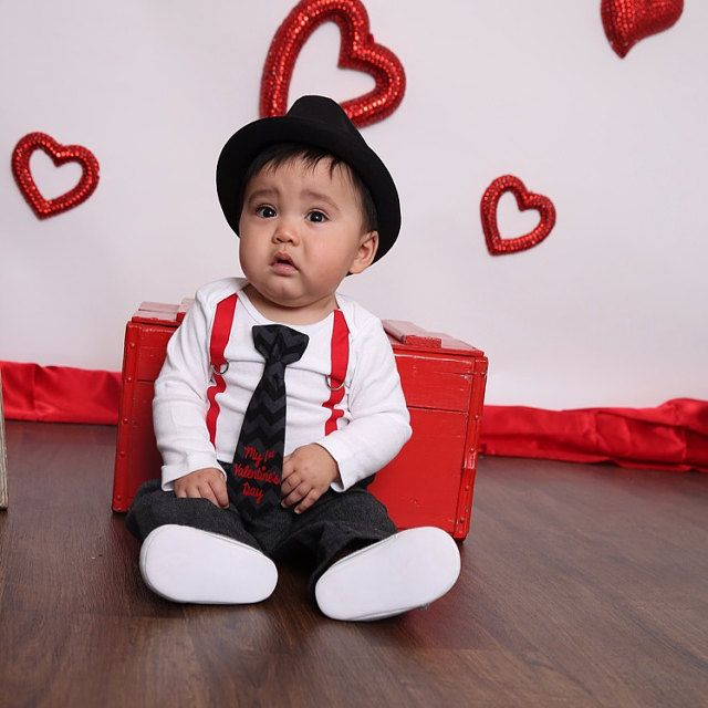 My first valentines day outfit baby boy first valentines day newborn boy valentines clothes