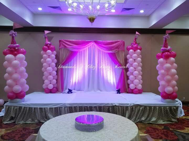 Princess Party Backdrop And Balloon Decorations