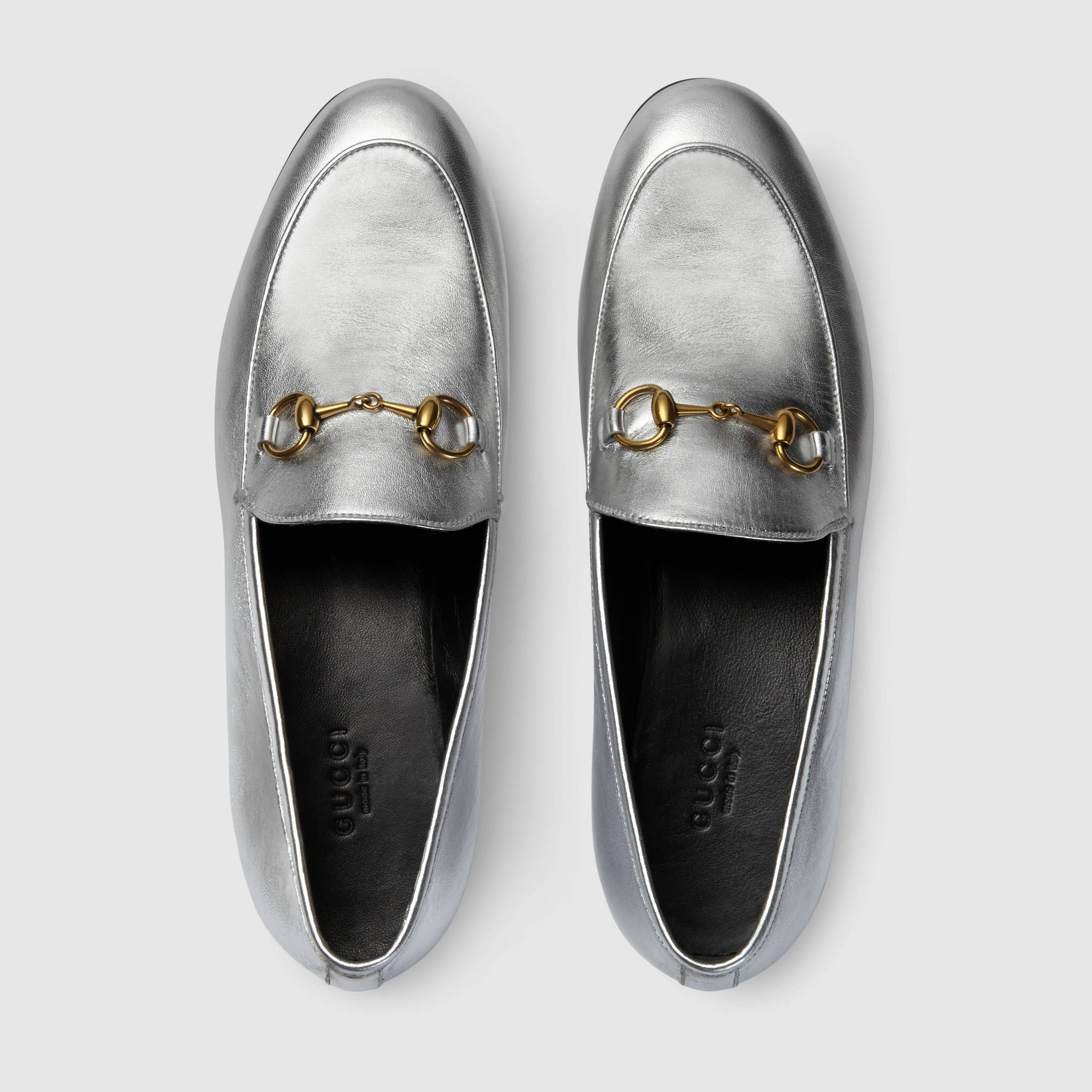 Gucci Women - Gucci Jordaan Metallic Silver Loafers -  670.00 ... 70d9906a6f3fa