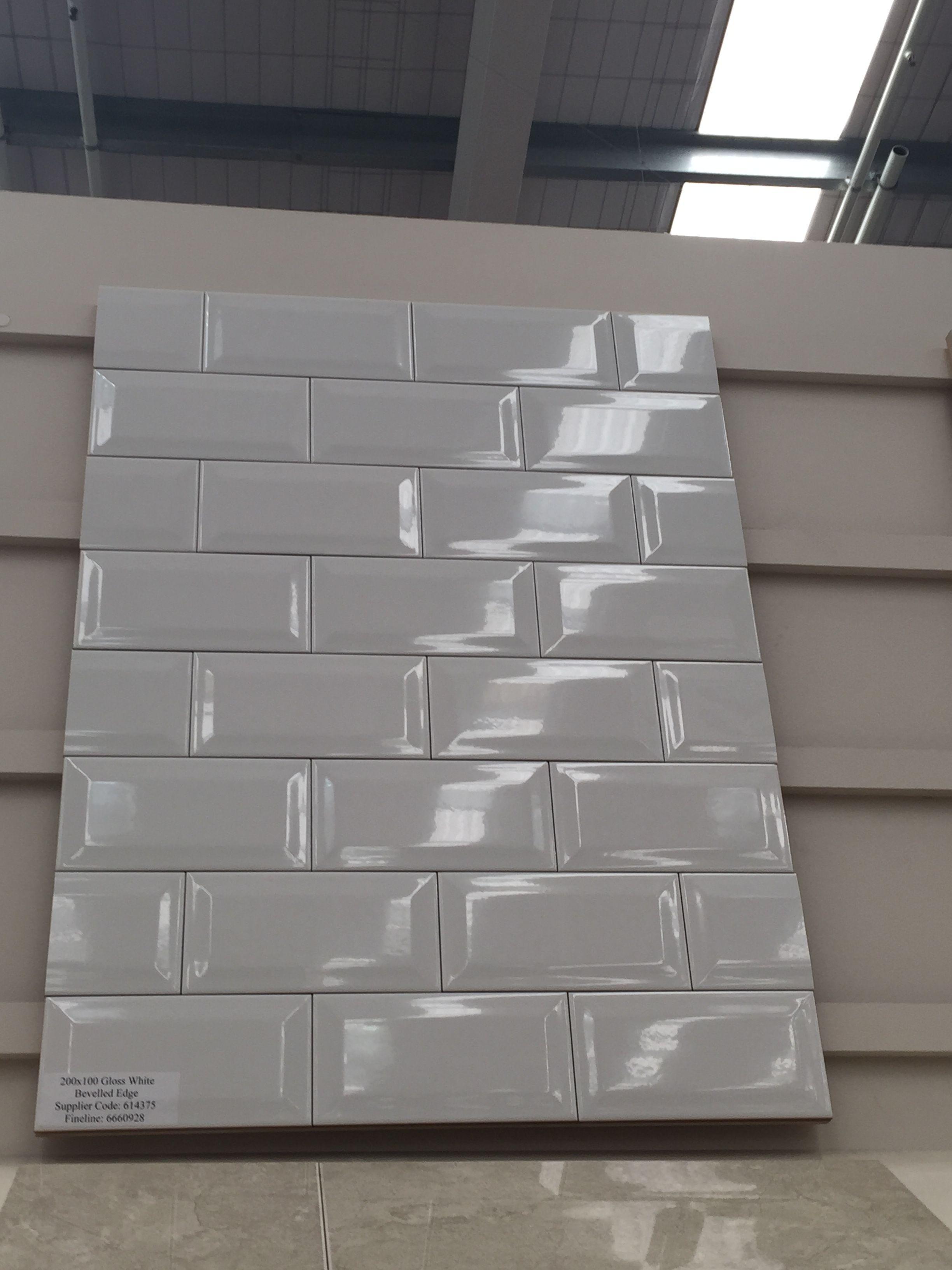 Beveled Subway Tiles Bunnings Kitchen Flooring Tile Bathroom White Bathroom Tiles