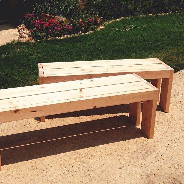 Easy Outdoor Benches Outdoor Furniture Bench Diy Bench Outdoor