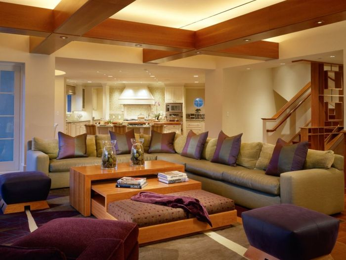 warme beleuchtung - wohnzimmer einrichten ideen Livingroom Ideas - bilder wohnzimmer moderne gestaltung