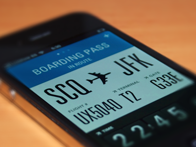 Flight card - Interface #Mobile
