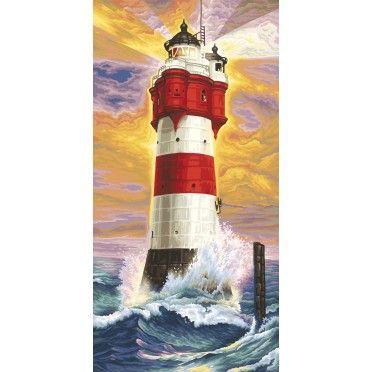 Leuchtturm Roter Sand Leuchtturmmalerei Idee Farbe Kunst Ideen