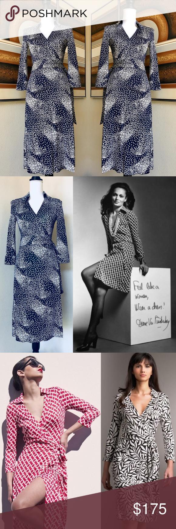 Diane Von Furstenberg Vintage Justin Wrap Dress 6 Dvf Wrap Dress Diane Von Furstenberg Clothes Design [ 1740 x 580 Pixel ]