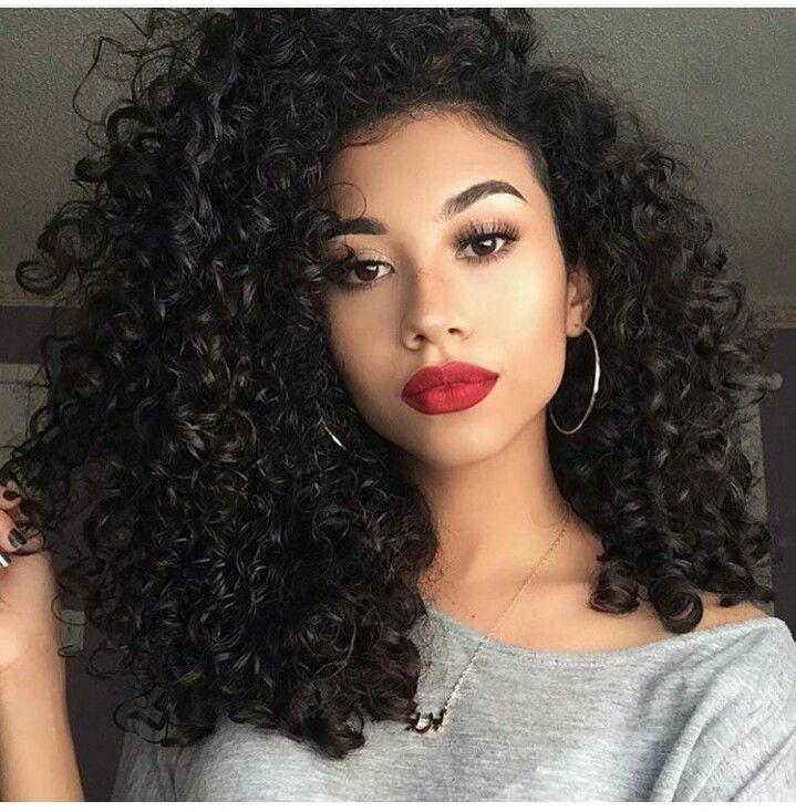 Short Natural Curly Haircut With Long Faces African American