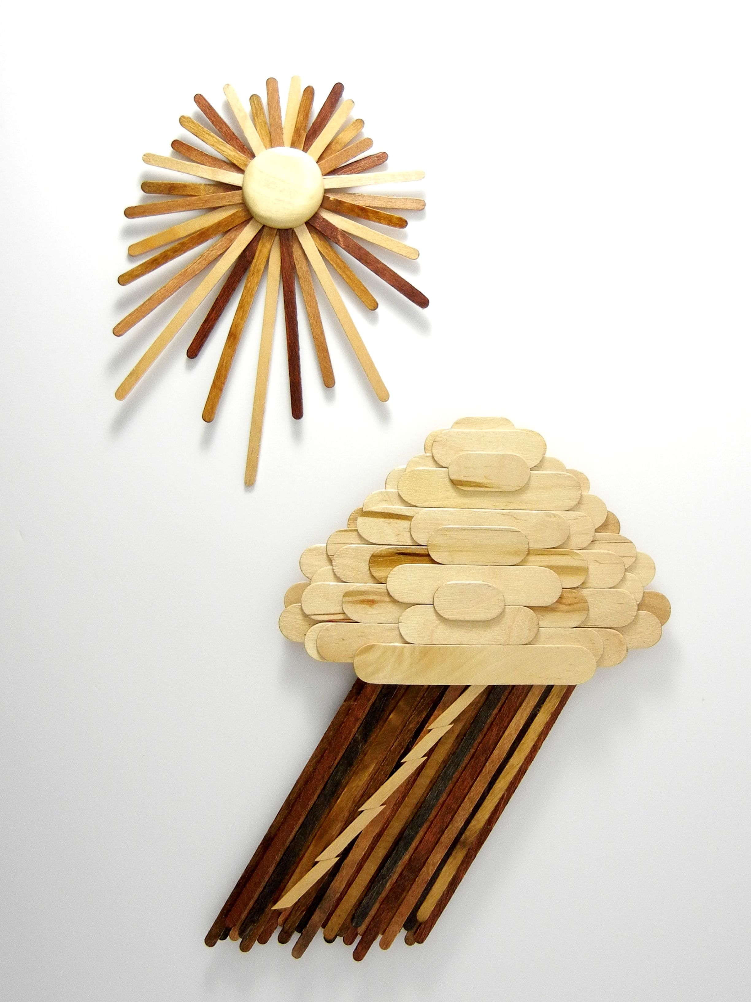 Popsicle stick wall art. I made these with craft sticks from Hobby ...