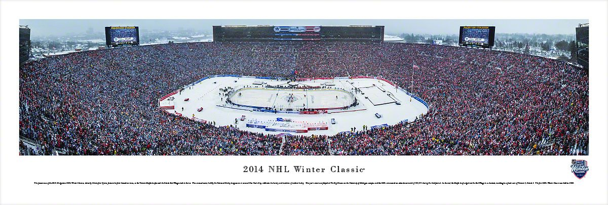 672f1b25d 2014 Winter Classic Panoramic - Big House - Toronto Maple Leafs   Detroit Red  Wings  29.95