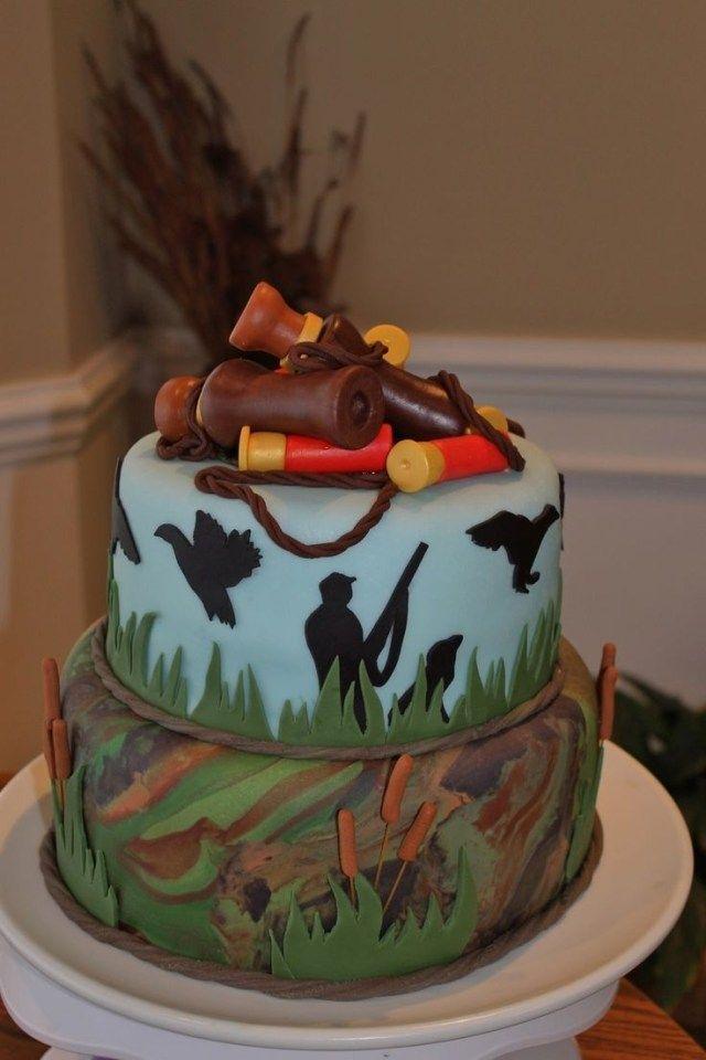 Stupendous 23 Awesome Image Of Hunting Birthday Cakes Hunting Birthday Personalised Birthday Cards Epsylily Jamesorg