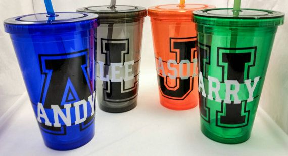 Acrylic tumbler monogrammed cup custom designplastic weddings decoration etsymktgtool