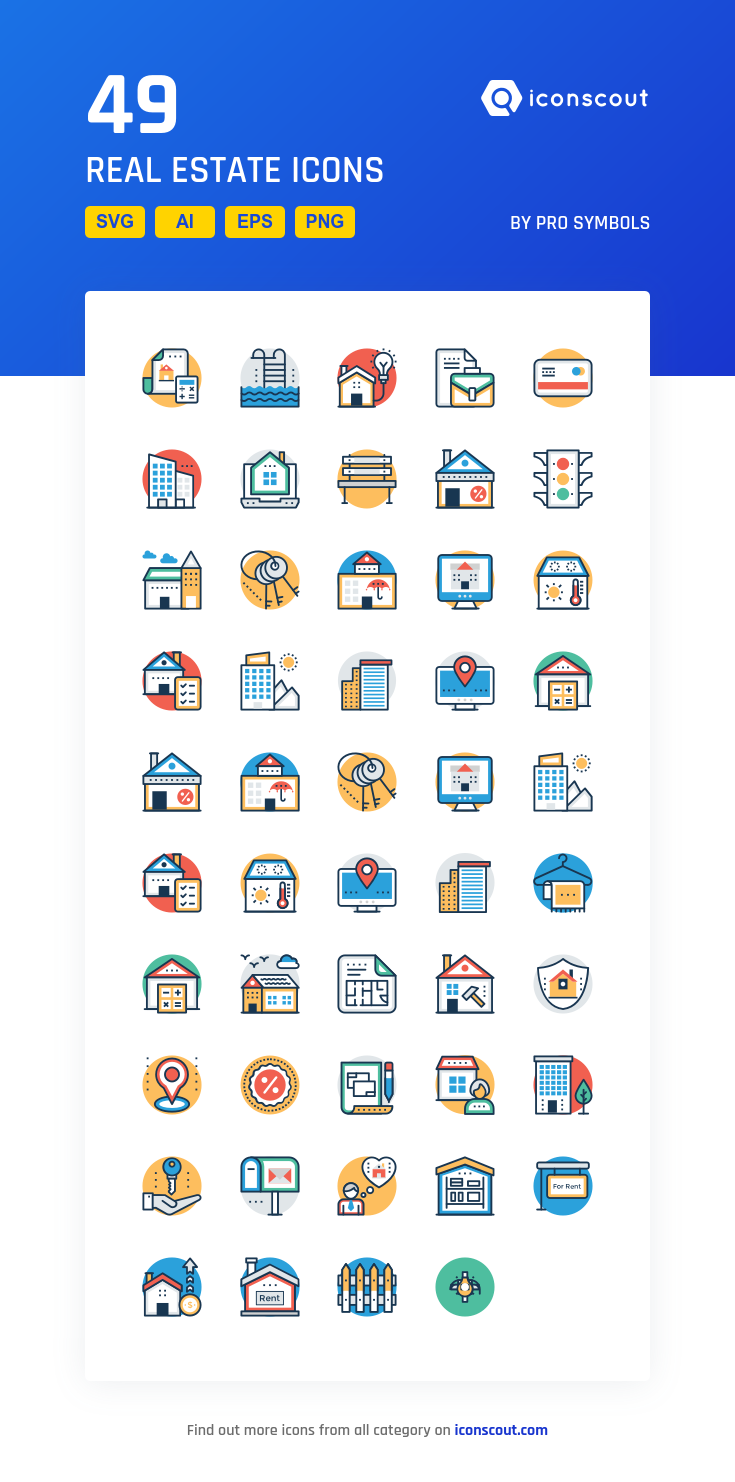 Download Real Estate Icon pack Available in SVG, PNG
