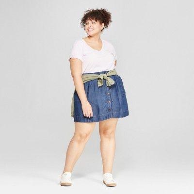 9625a18464 Women s Plus Size Monterey Pocket V-Neck Short Sleeve T-Shirt - Universal  Thread Light Purple 1X