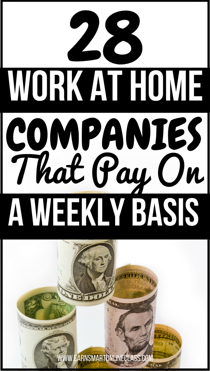 28 Work At Home Online Jobs That Pay Weekly