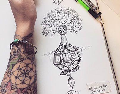 Divine Balance Tattoo Design Balance Tattoo Geometric Sleeve Tattoo Flower Of Life Tattoo