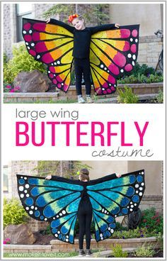 4bfe7d2399ead Make a LARGE WING BUTTERFLY Costume | butterfly costume | Butterfly ...