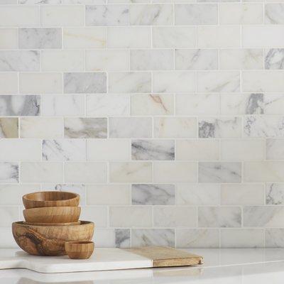 Msi Calacatta Gold 2 X 4 Marble Mosaic Tile Marble Subway