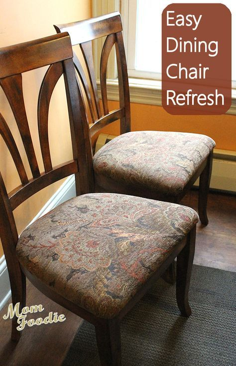 Reupholstering Dining Chairs An Easy, Reupholster Dining Room Chairs