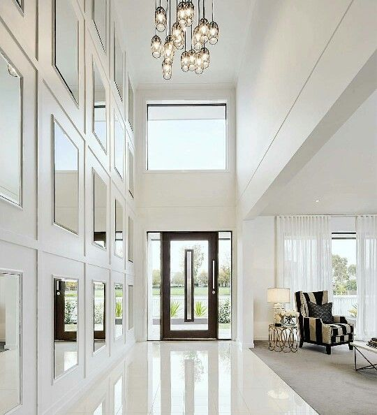 Foyer Mirror Height : Amazing white foyer luxury