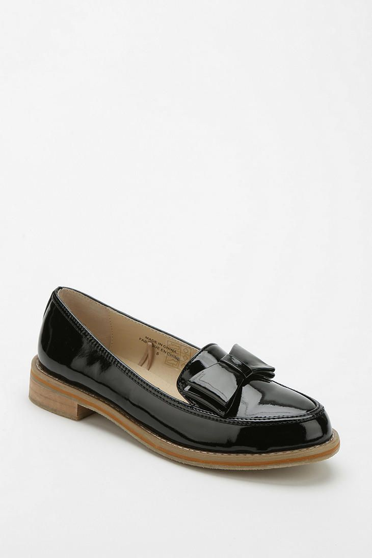 58ab9531c01 Cooperative Patent Bow Loafer Flats