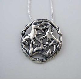 Sterling silver celtic horse pendant horse equestrian jewelry sterling silver celtic horse pendant aloadofball Images