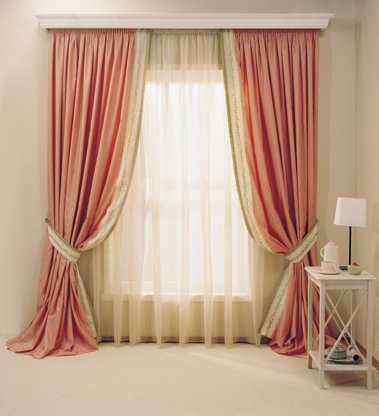 Классические шторы в интерьере: примеры с фото   Розовые ...