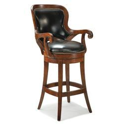 Swivel Bar Stools With Back And Arms | Fairfield Chair Shaped Back Leather  Swivel Bar Stool