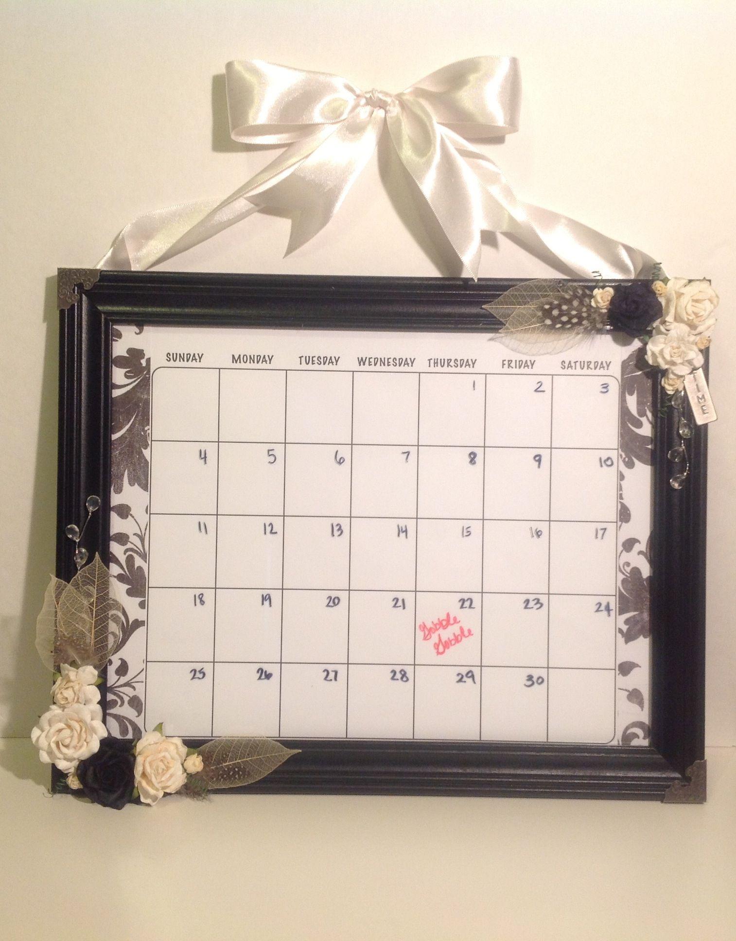 DIY Picture frame dry erase calendar 5 frame from