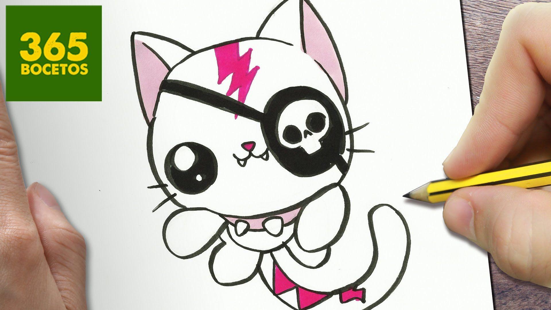 Como Dibujar Un Gato Kawaii Paso A Paso Dibujos Kawaii Faciles How T