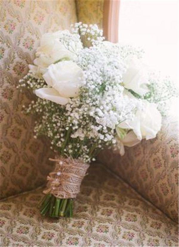30 Gorgeous Rustic Burlap Wedding Ideas Page 5 Of 5 Weddinginclude Baby S Breath Wedding Flowers Babys Breath Wedding Wedding Flowers