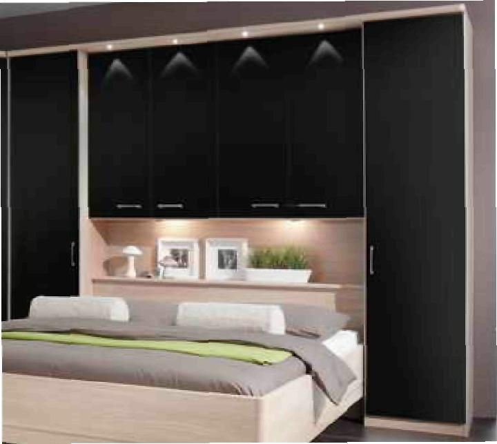 Ohio white gloss overbed unit imagestack bedroom ideas for Storage above bed ideas