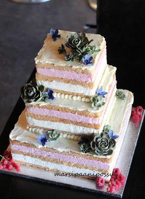 Marsispossu: Hääkakku, naked cake